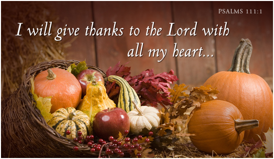 Give Thanks to God in Thanksgiving Day